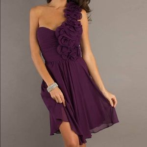 Deep Purple Short Dress